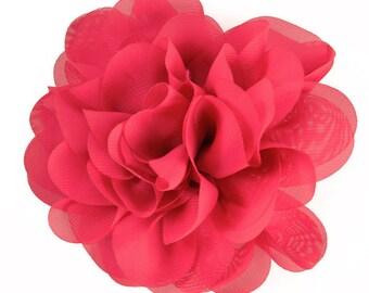 """E6042 Fuchsia Floral Brooch Clip Applique 5"""" E6042-fs"""