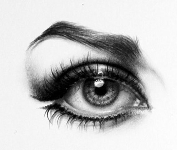 Natalie Wood Pencil Drawing Fine Art Portrait PRINT Hand Signed