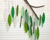 Spring green glass wind chime