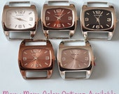 Small Squashed Watch Face - ribbon, solid bar, interchangeable, removeable, Narmi