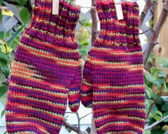 Wool Mittens Knit -  Harvest