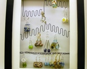 Black Earring Holder / Earring Display / Earring Organizer / Wall rack / Storage