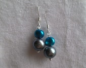 Spring SALE Pearl and Sterling Silver earrings