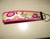 Pink Dotty Key Fob