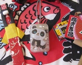 """Panda Rice Resin Necklace """"with real rice inside"""""""