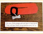 PET Sympathy CARD . Dog Puppy Heaven Death Love Quote God BLANK 1503