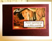 Sale . GOSSiP . I Never Repeat It Card . Tell Me Purple Shiny Woman Plum Quote Friend BLANK 5BH/2200