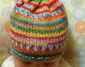 Bright Stripes Baby Hat (0-6 months)