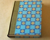 Journal, quarter cloth with block printed sides