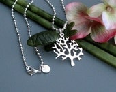 SALE - Sterling Silver Tree of Life Necklace, Sterling Silver Ball Chain