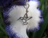 Sterling Silver Necklace - Hummingbird Necklace - Wedding - Bridesmaids - Symbol of Life and Joy