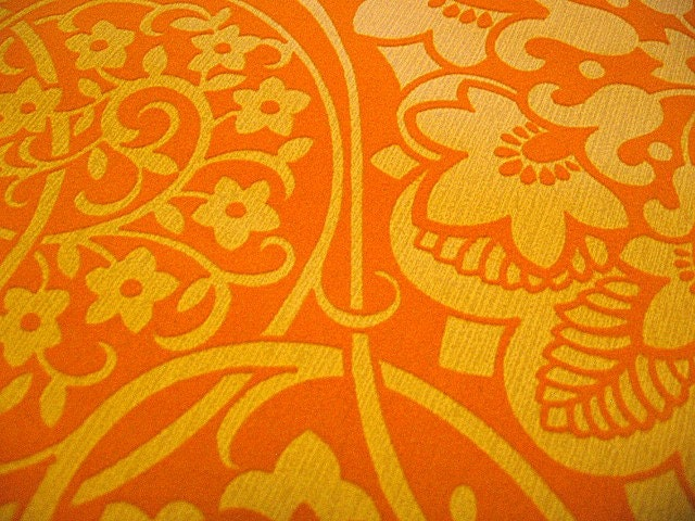 Orange Vintage Wallpaper