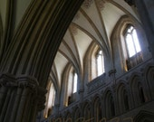 Beautiful Wells Cathedral - Wells, England  Clerestory Windows - 8 x 10 Original Fine Art Photograph