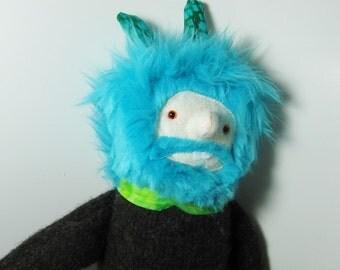 Boyfriend Softie Doll with blue hair