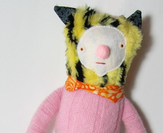 Tiger Doll in Pink Sweater