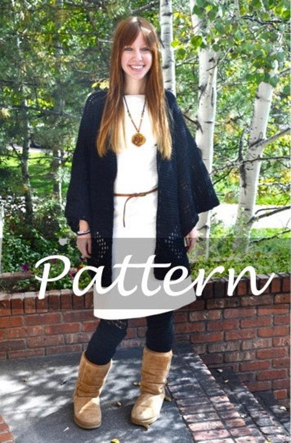 CROCHET PATTERN for The Crochet Kimono