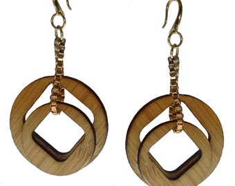 Pi Chain Bamboo Earrings KSE121001