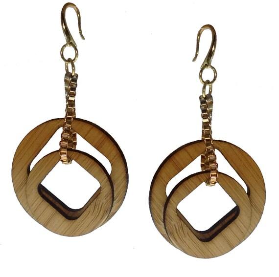 Pi Chain Bamboo Earrings KSE121001