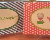 Personalized Golf Placemats