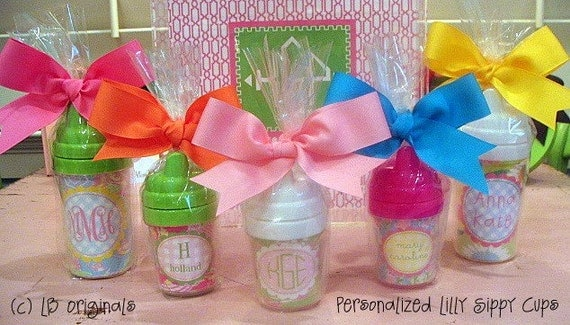 Personalized Lilly Sippy Cups