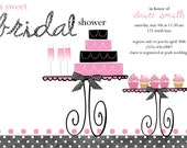 A Sweet Bridal Shower Invite (20 printed with glitter)