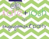 Chevron Engagement Party Invite