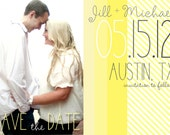 Save the Date Magnets- Yellow Love Design