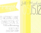 Bridal Shower/Engagement Party Invite- Yellow Love  (20 printed 5x7)