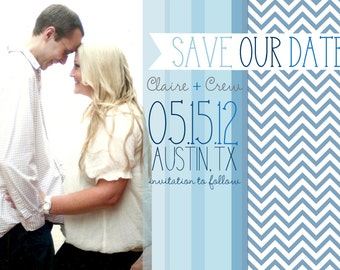 Magnet Save the Dates-Shades of Blue Love