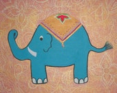 Princely Pachyderm Indian Nursery Painting