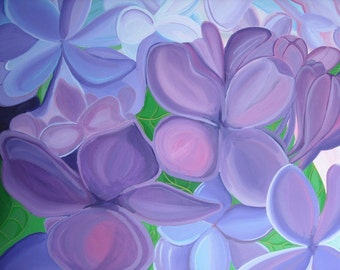 Lovely Lilacs 16x20 Acrylic Painting