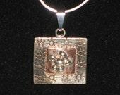 Nickel, Copper, and Silver Square Pendant