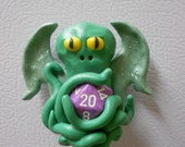 Cthulhu with D20 Magnet