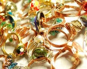 Fun, Funky, Wire wrapped rings 3 for 20