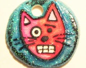 LOUIS CAT ceramic pendant necklace or Wrap Bracelet