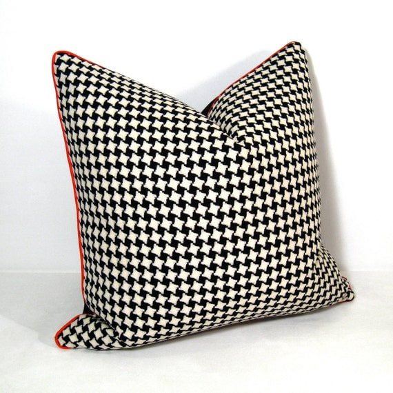 Black And White Houndstooth Throw Pillows : Black White Pillow Cover Houndstooth Cushion Decorative