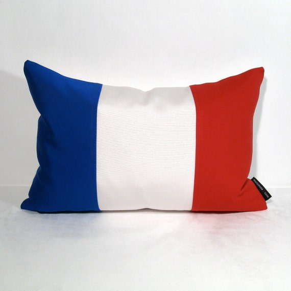 French Flag Pillow Cover France Flag Blue White Red by Mazizmuse