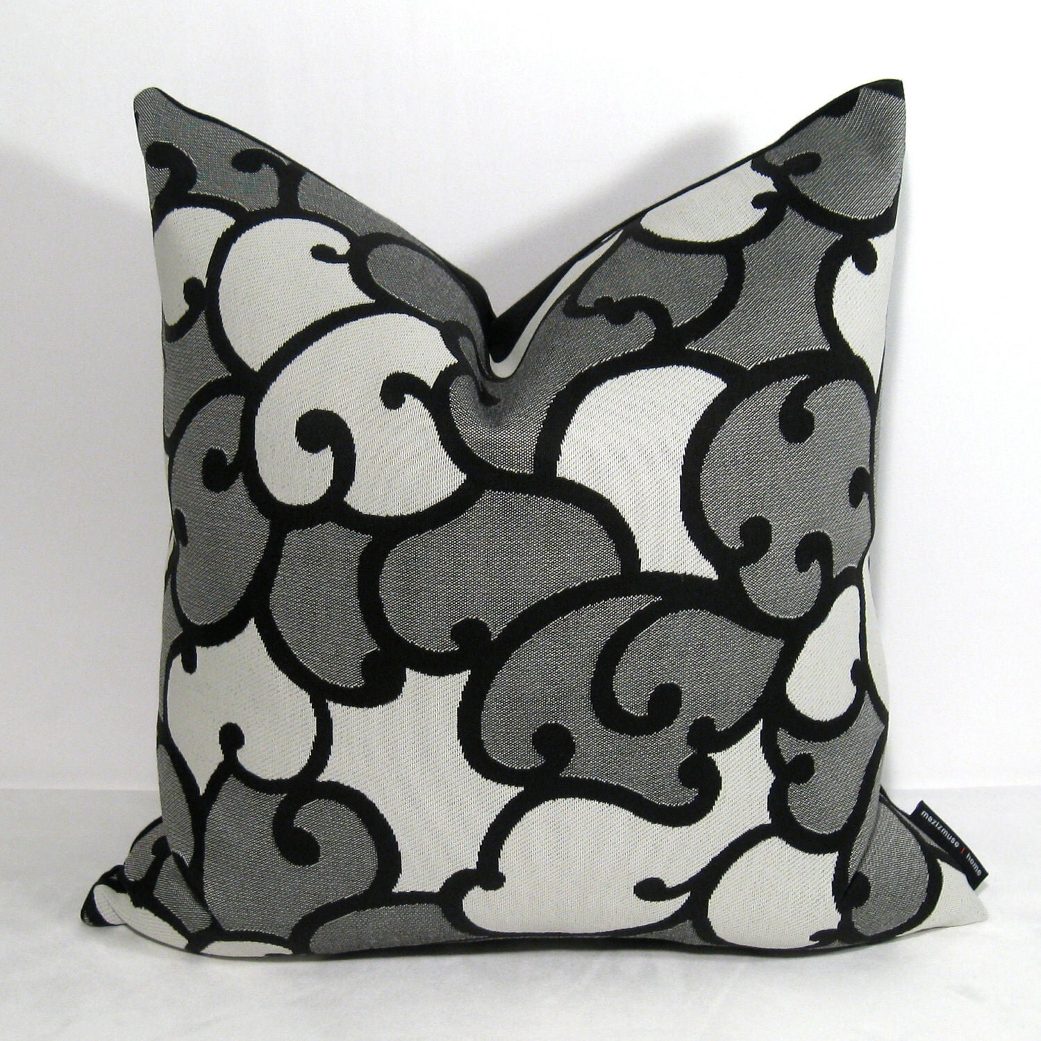 SALE Black White Gray Pillow Cover Outdoor Cushion