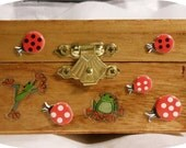 Handmade Kids Frogs And Lady Bug Jewelry Or Trinket Box, See Description For Details