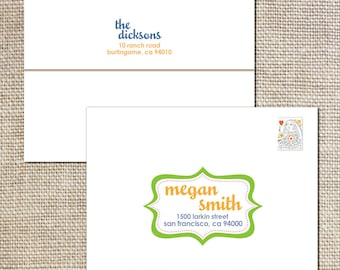 Printed envelopes to match your shower invitations