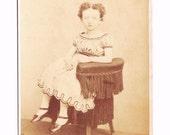 LITTLE AMELIA - Antique Sepia Tint Victorian Photo