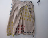 Reserved for Bummble.      FINAL SALE, Graphic Print Wrap Skirt. 50% OFF