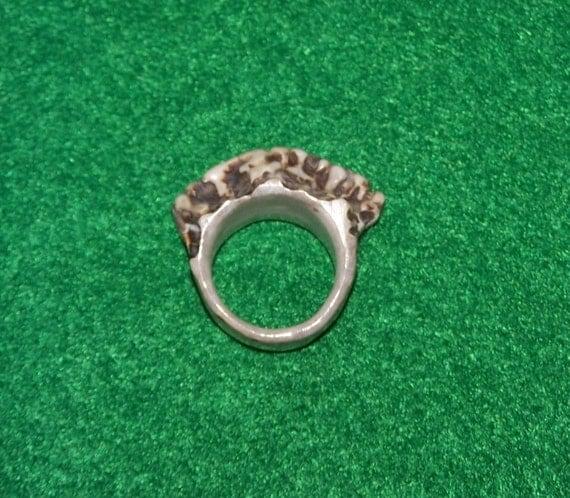 Antler Crown Ring 6-1/4