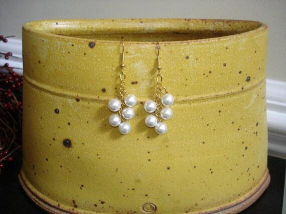 3 Pairs of Bridesmaid Earrings, Custom Listing...RESERVED for evarney