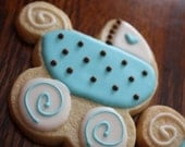 Baby Carriage cookie favors - stroller baby shower