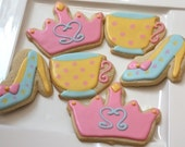 One dozen Princess Tea cookie favors