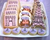 One dozen Parisian cookie favors