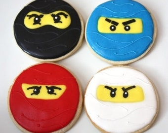 One dozen Ninjago cookie favors