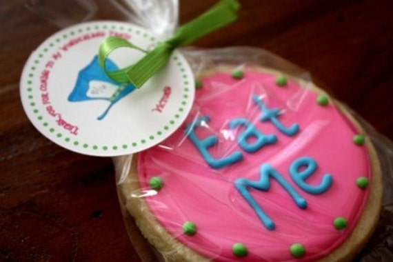 Wonderland Party favor Mad Hatter party cookie One Dozen