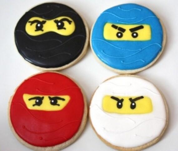 One dozen Ninjago cookie favors
